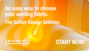 An easy way to choose your awning fabric. The Sattler Design Selector. Start Now!